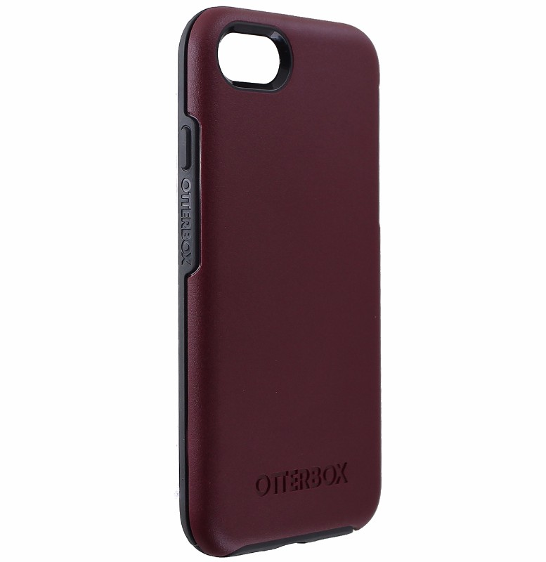 OtterBox Symmetry Series Hybrid Case for Apple iPhone 7 and 8 - Dark Red/Gray