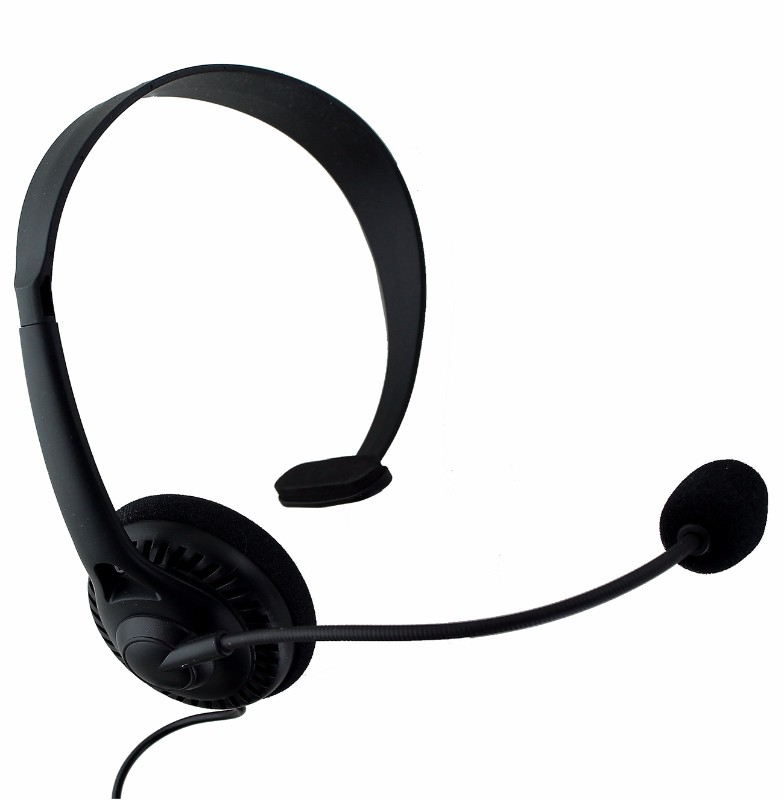 Insignia Landline Phone Headset with 2.5mm Aux Connector - Black