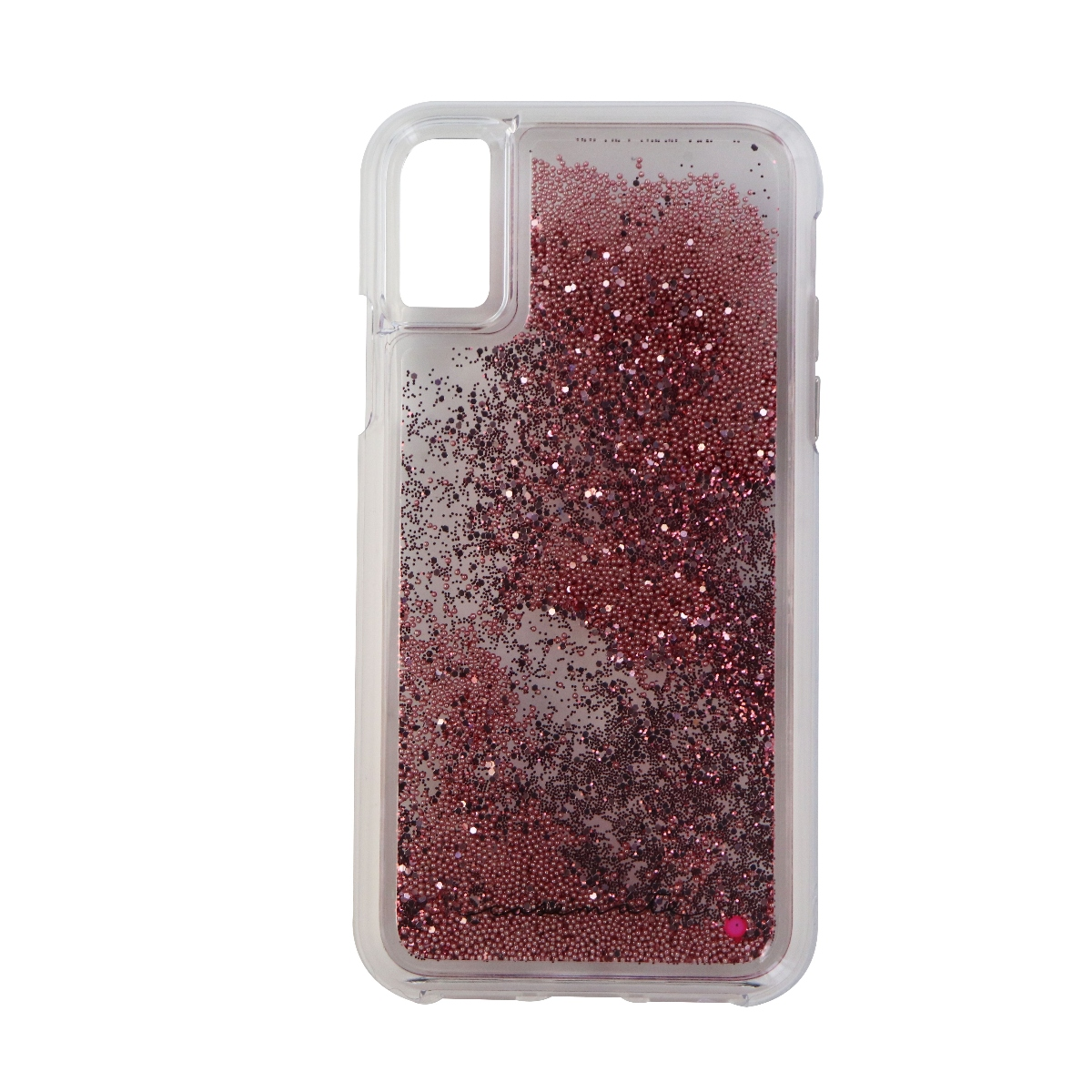 Case-Mate Waterfall Series Case for Apple iPhone X 10 - Clear/Pink Glitter