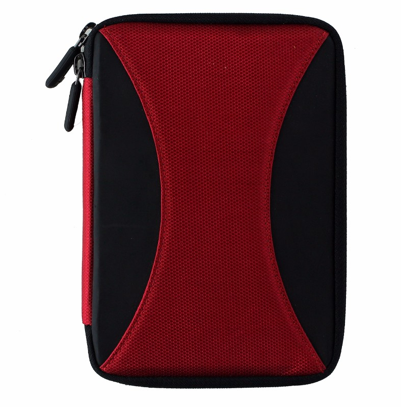 M-Edge Latitude Jacket Protective Case Cover for Kindle 4, Touch - Black / Red