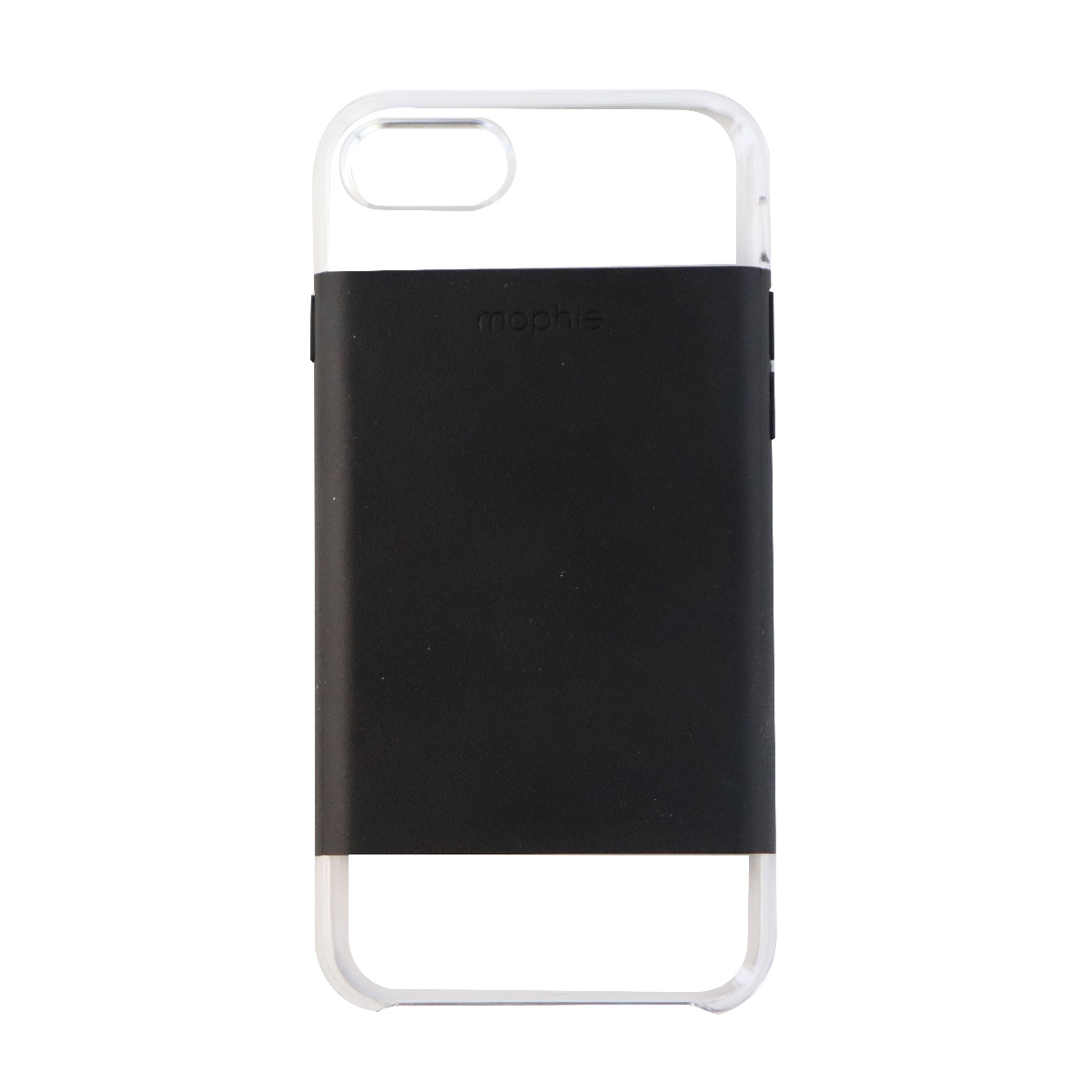 Mophie Hold Force Base Case Series Slim Cover for Apple iPhone 8 7 - Black/Clear