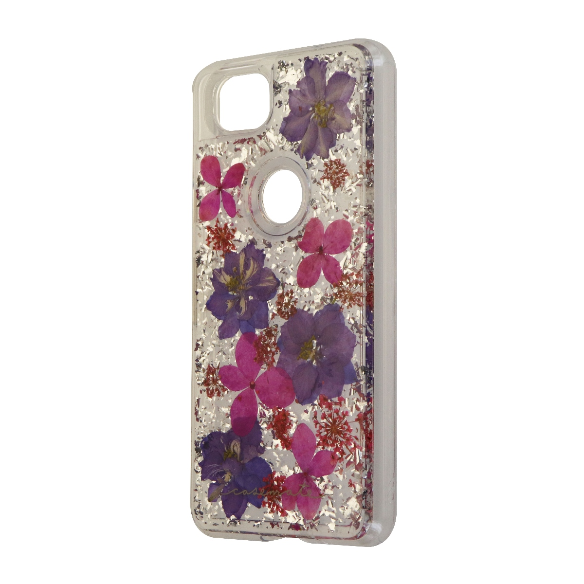 Case-Mate Karat Petals Series Hard Case for Google Pixel 2 - Purple/Pink Flowers