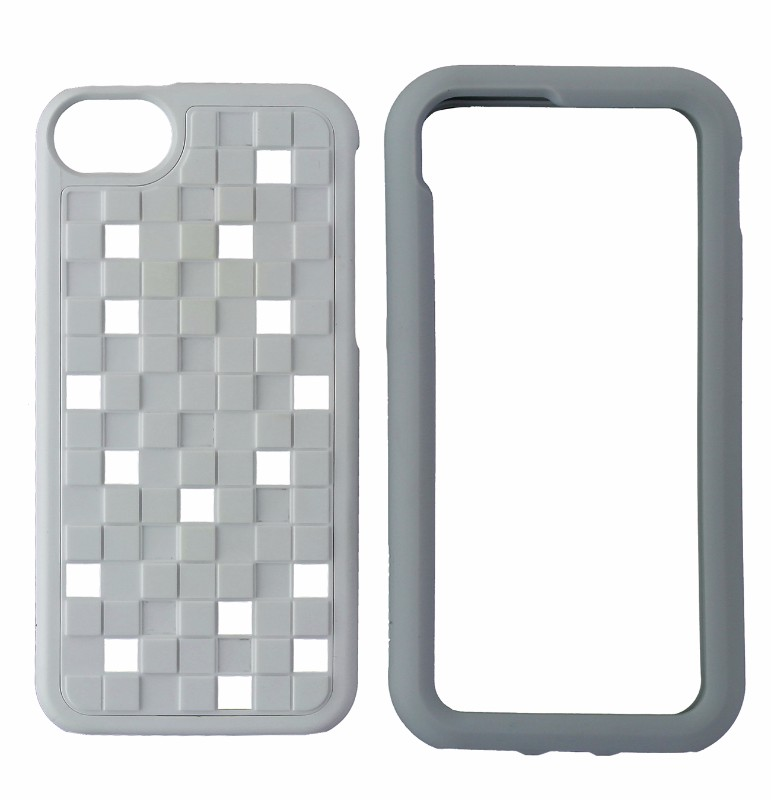 M-Edge Maverick 2-in-1 Dual Layer Protective Case Cover iPhone 5 - White / Gray