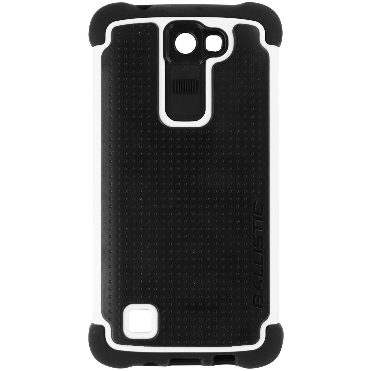 Ballistic Tough Jacket Series Dual Layer Case Cover for LG K8 - Black / White