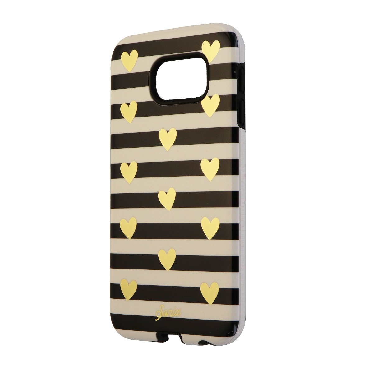 Sonix Inlay Series Protective Case for Samsung Galaxy S6 - Heart Stripe Gold