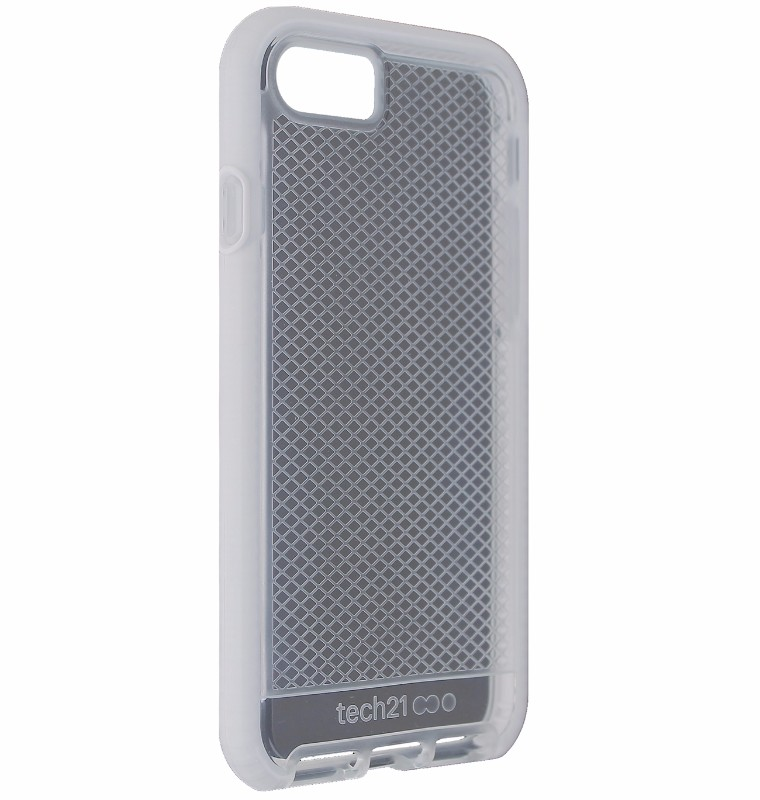 Tech21 Evo Check Series Flexible Gel Case Cover Apple iPhone 8 7 - Clear / White