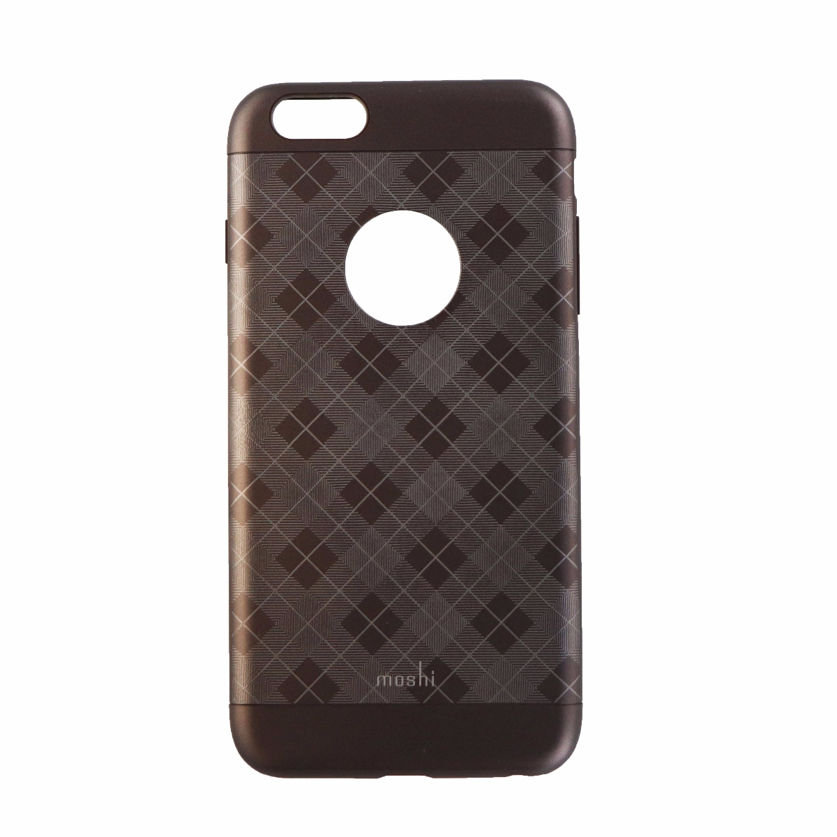 Moshi iGlaze Durable Snap One Case for iPhone 6s Plus 6 Plus - Checkered Brown
