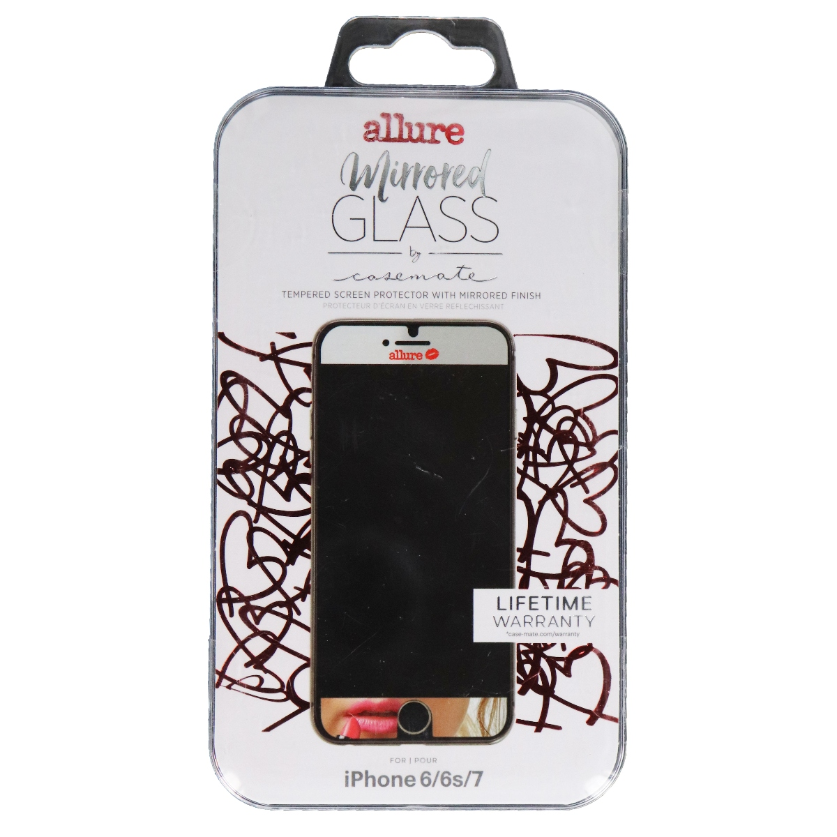 Case-Mate Allure Mirrored Tempered Glass for iPhone 7 6s - Mirrored
