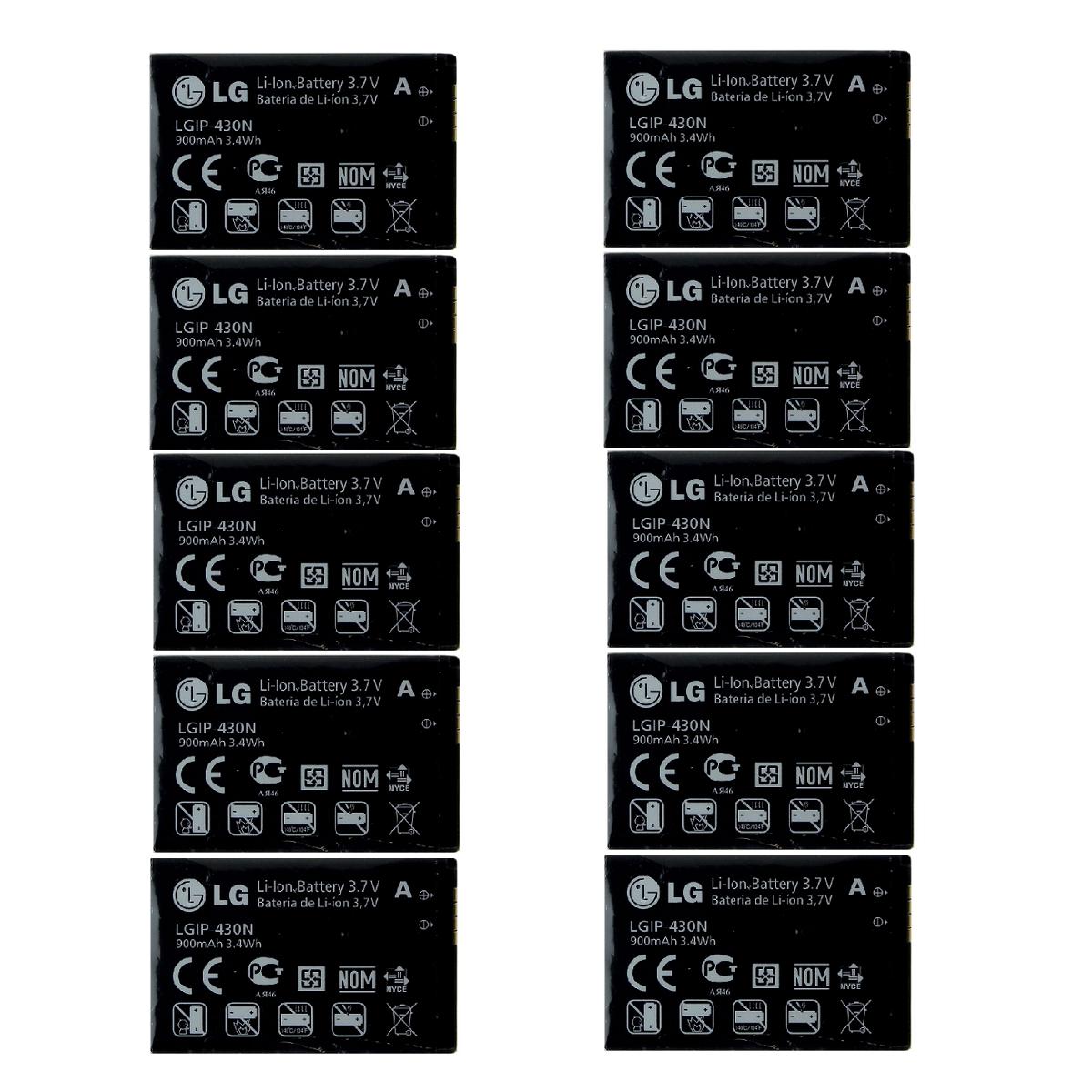 KIT 10x LG LGIP-430N 900 mAh Replacement Battery for LG LX290