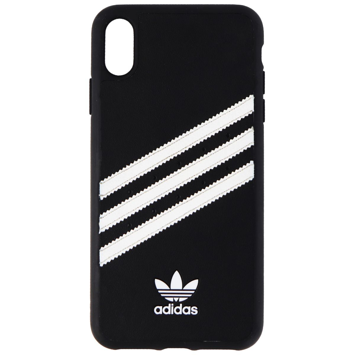 Adidas 3-Stripes Samba Snap Case for Apple iPhone XS / X - Black / White Stripes