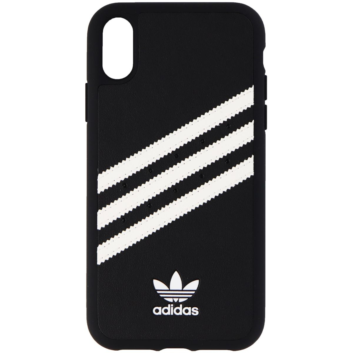 Adidas 33260 Samba Case for iPhone Xs Max - Black w/ White Stripes