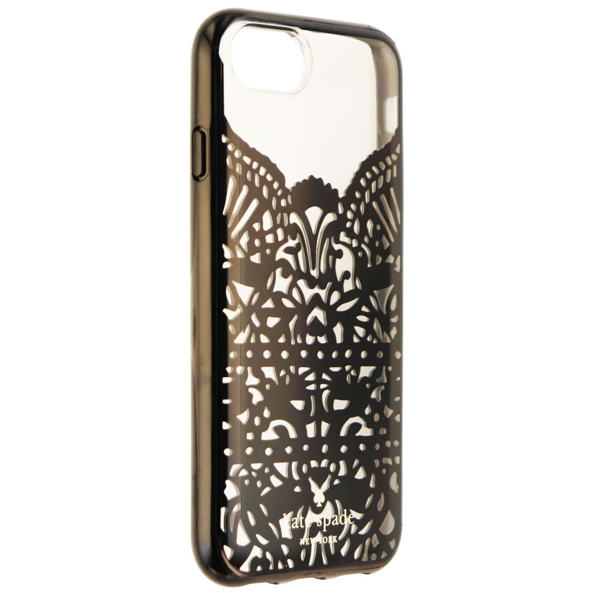 Kate Spade Lace Cage Series Hybrid Hard Case for iPhone 8 7 6s - Blk Lace/Clear