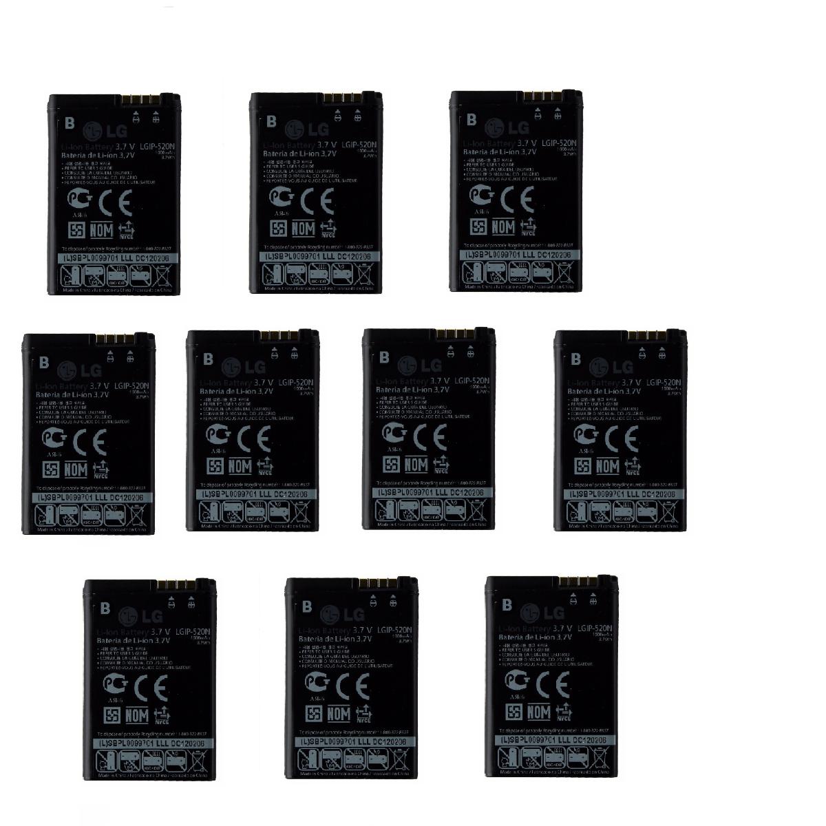 KIT 10x 1000 mAh Replacement Battery (LGIP-520N) for LG Chocolate / GD900 / GW50