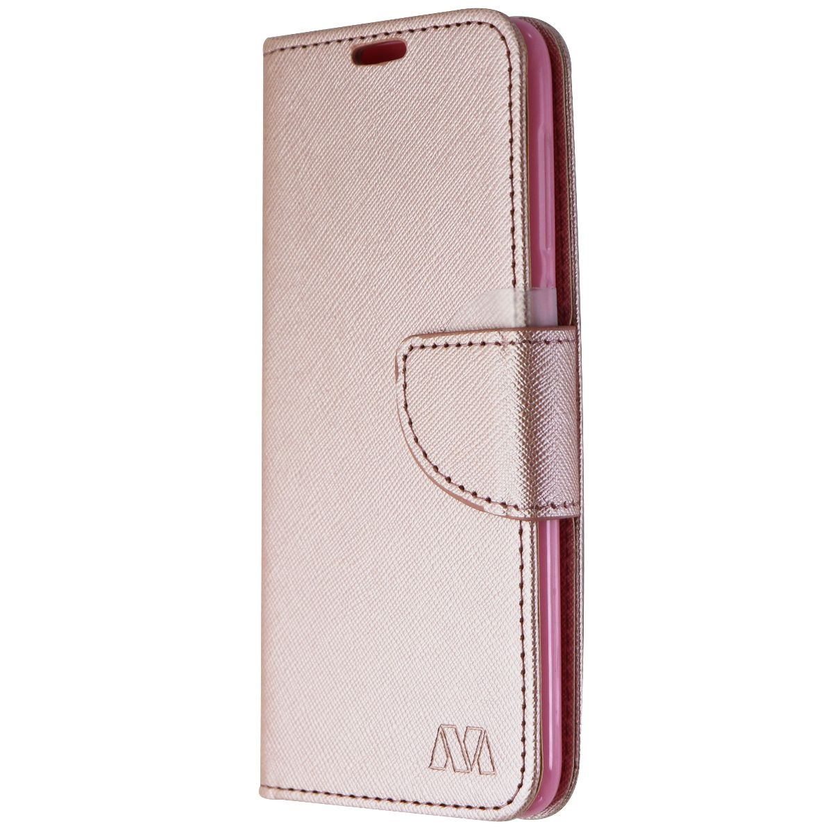 MyBat Folio Wallet Case for Alcatel Revvl 2 - Pink Saffiano