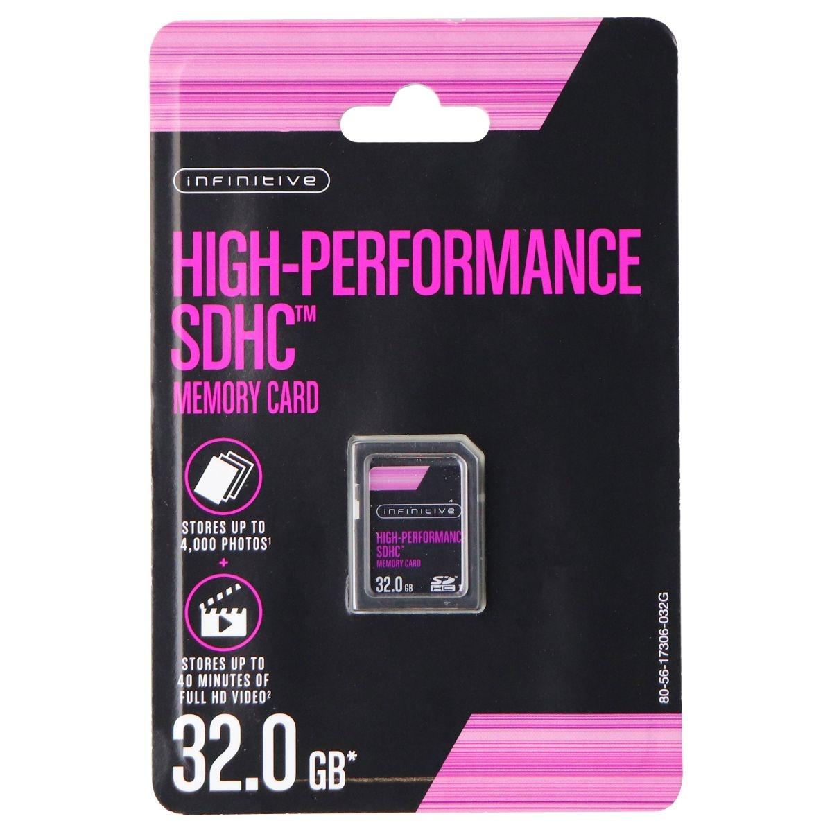 Infinitive High-Performance SDHC Memory Card 32GB (Upto 40Mb/s) - Black