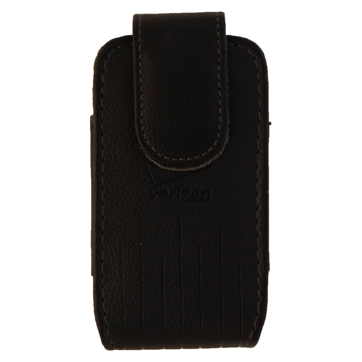 Verizon Universal Leather Standing Pouch for Small Devices - Black (UNIUPPCH3)