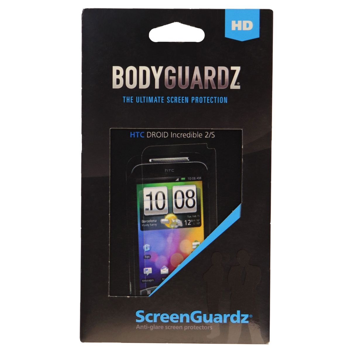 BodyGuardz ScreenGuardz HD Anti Glare Screen Protector HTC Droid Incredible 2