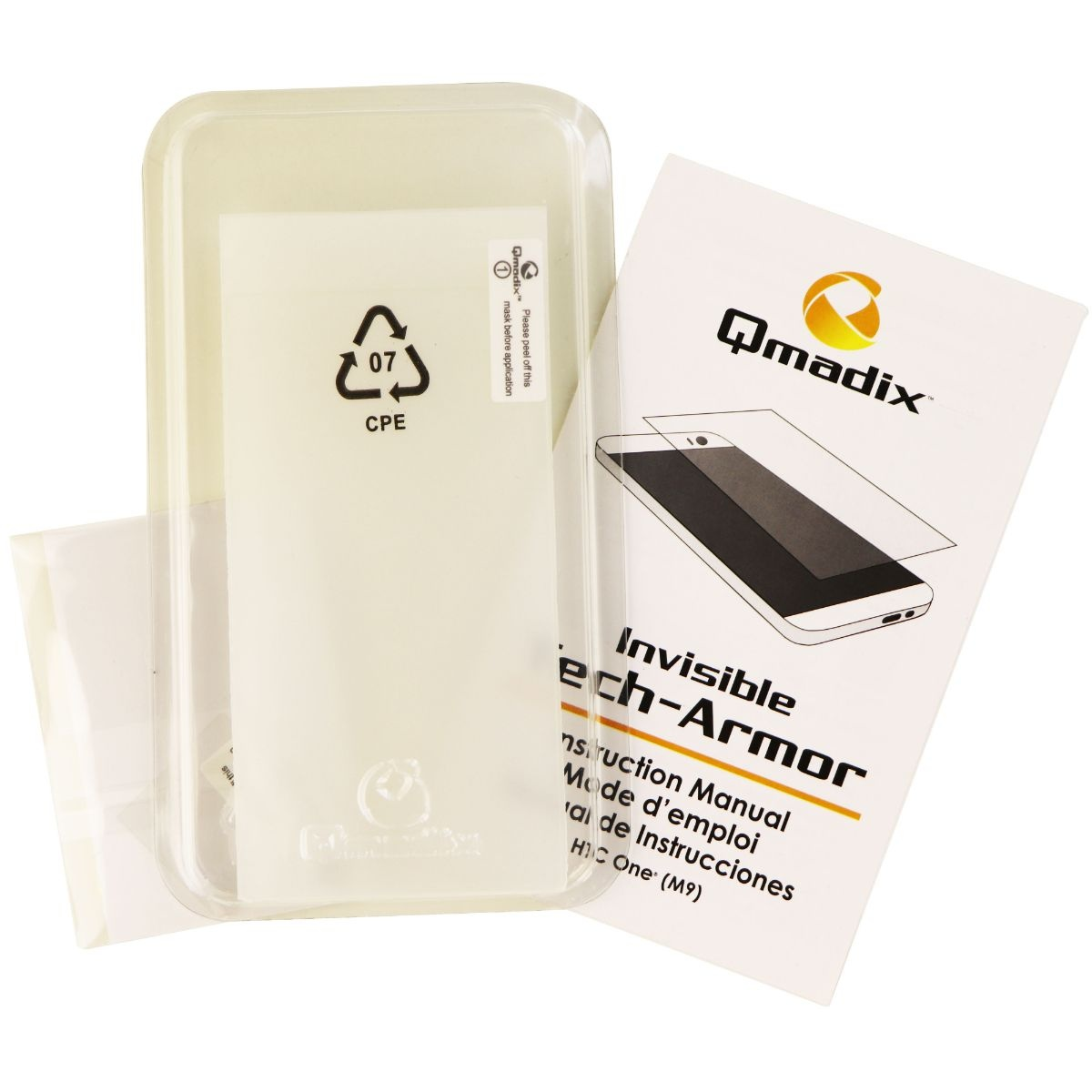 Qmadix Invisible Tech-Armor Screen Protector for HTC One M9 - Clear