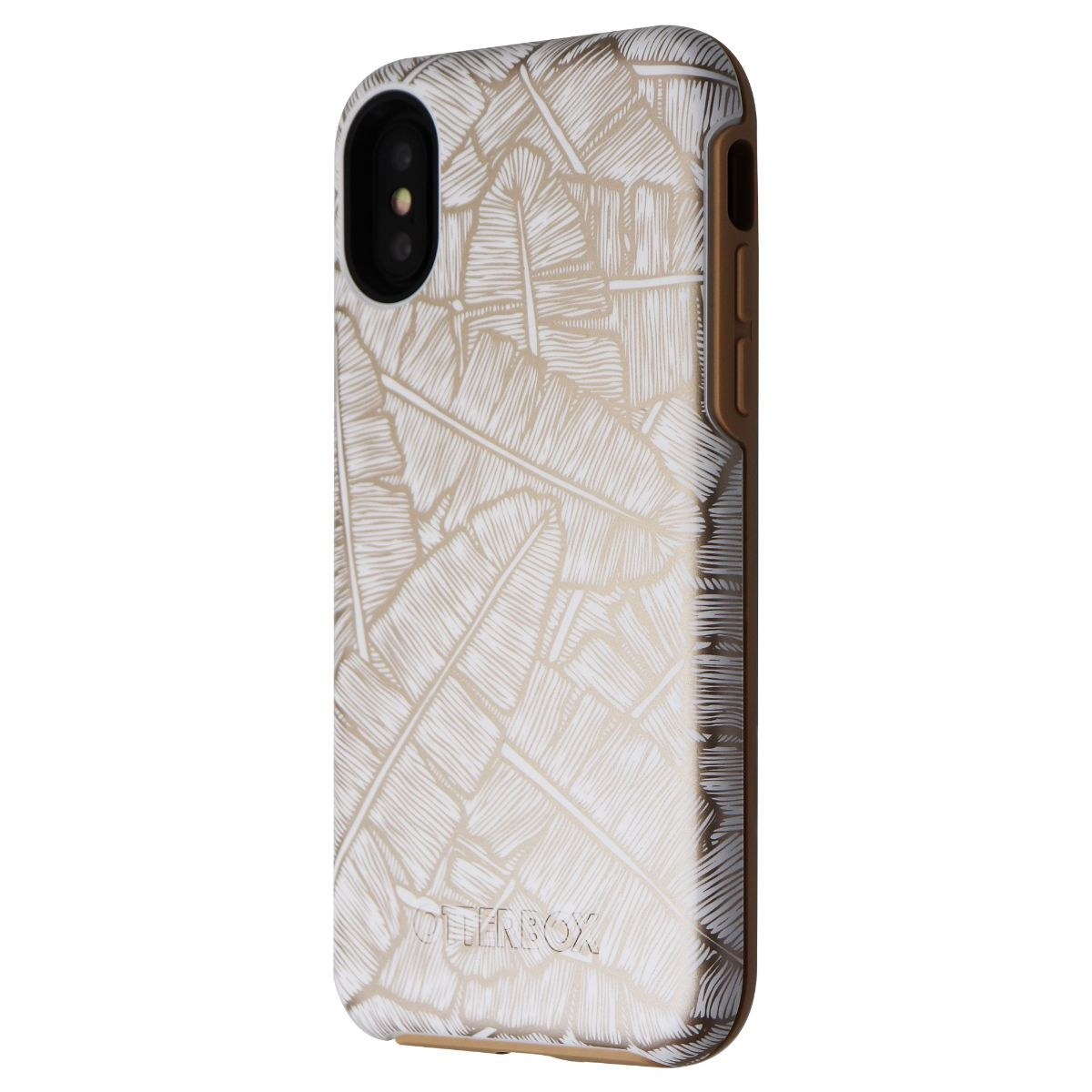 OtterBox Symmetry Case for iPhone XS / X - Throwing Shade (White/Tan Leaves)