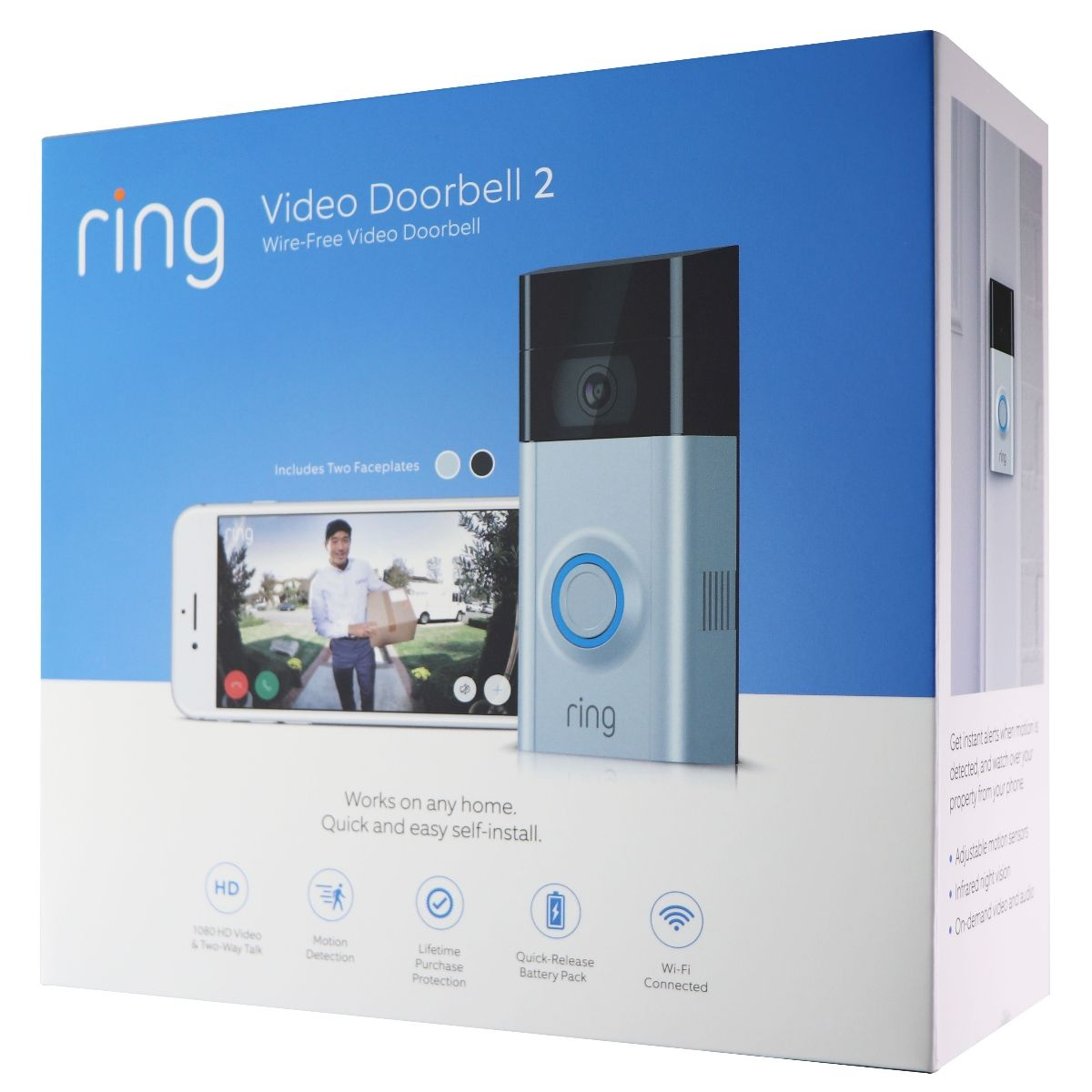 Ring - Video Doorbell 2 - Satin Nickel