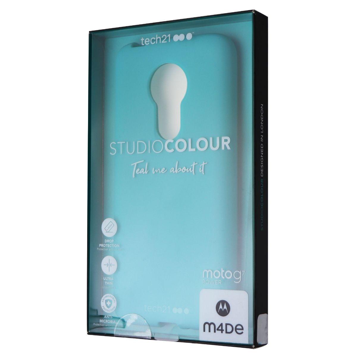 Tech21 Studio Colour Series Gel Case for Motorola Moto G7 Power - Teal