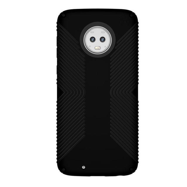 Speck Presidio Grip Series Hybrid Hard Case for Motorola Moto G6 - Black