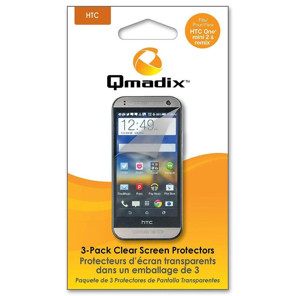 Qmadix Screen Protector for HTC One mini 2 and Remix - 3 pack - Clear