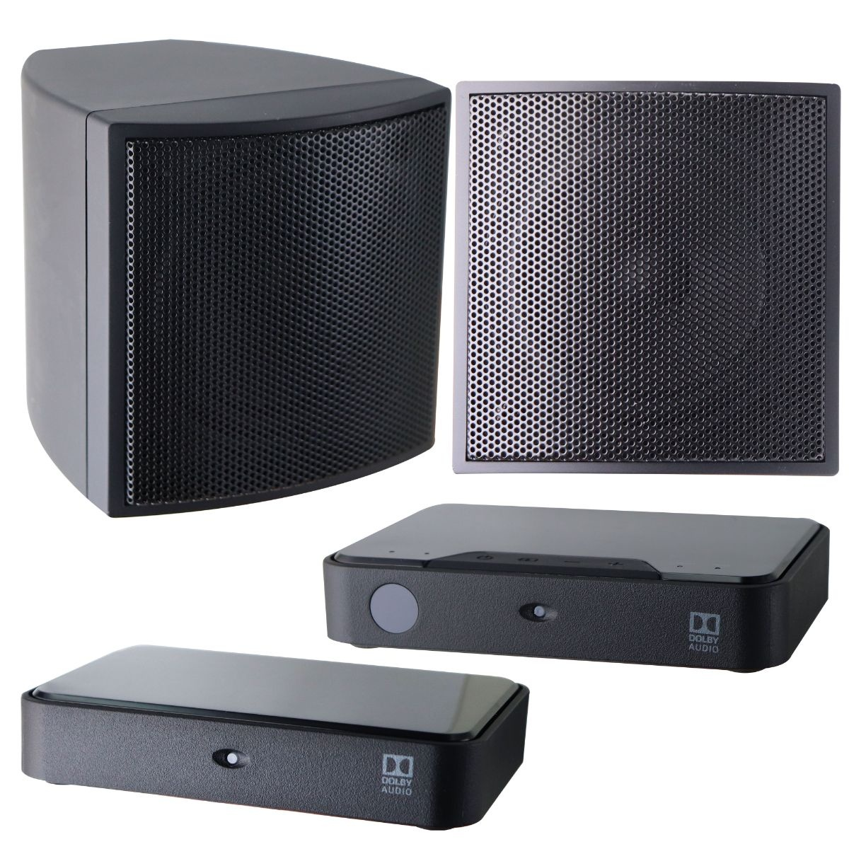 Insignia Wireless Rear 2 Speakers and 2 Receivers NS-HURSK18 - Black