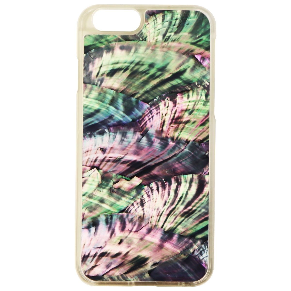 Recover Genuine Abalone Shell Hard Case for Apple iPhone 6s/6 - Teal Pink/Frost