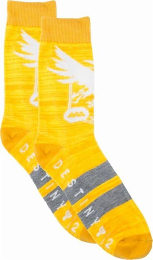 Bioworld Destiny Crew Socks Size 10-13 - Yellow/White