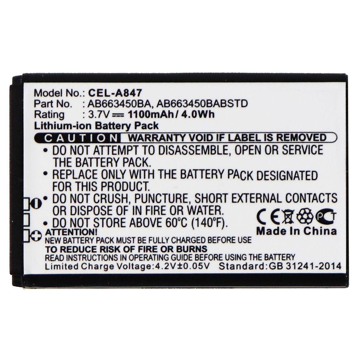 UltraLast Rechargeable Battery for Select Samsung Smartphones - CEL-A847