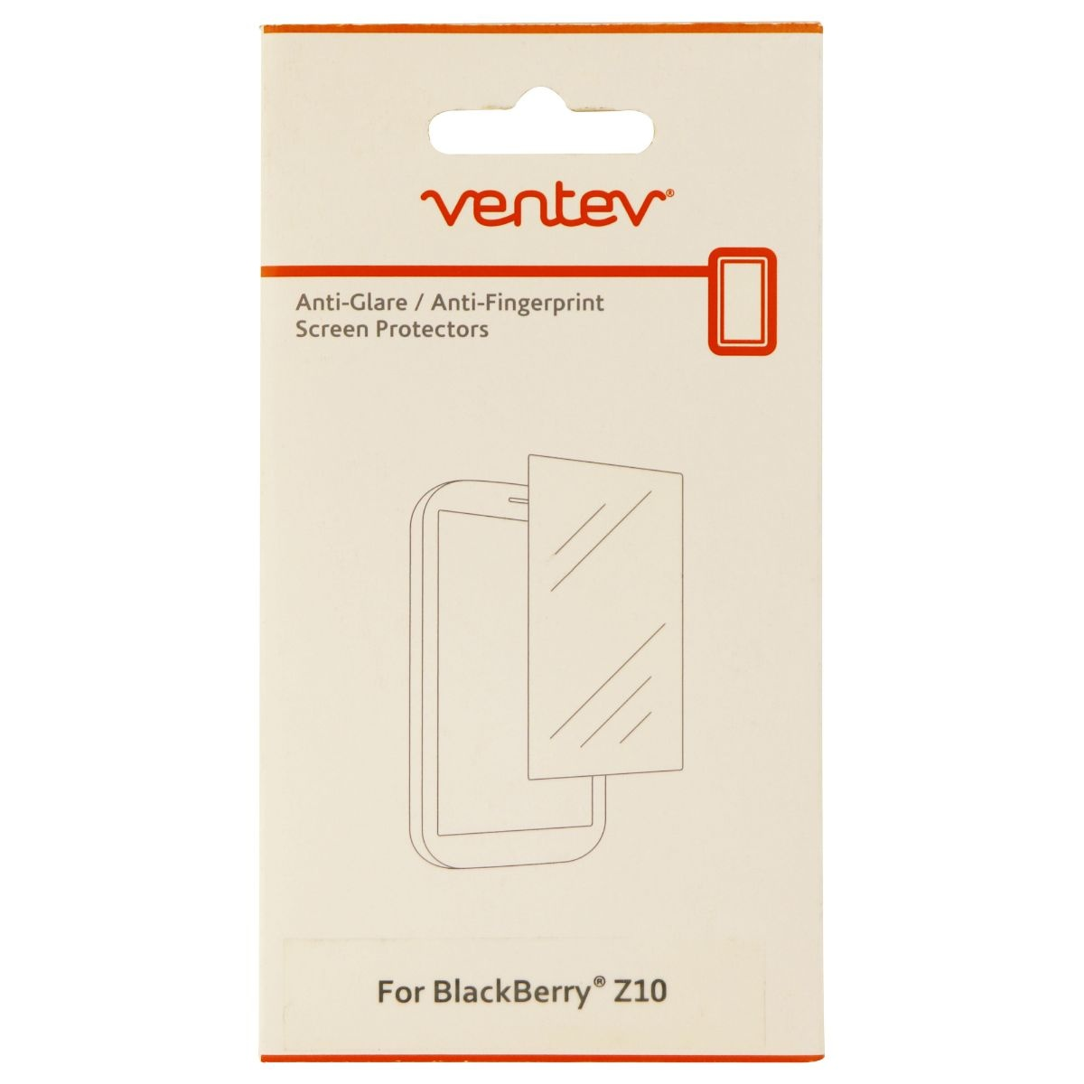 Ventev Anti Glare Screen Protector for Blackberry Z10 - 2 pack - Clear