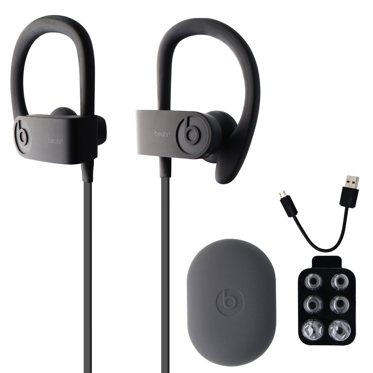 Beats Powerbeats3 Series Wireless Ear-Hook Headphones - Asphalt Gray (MPXM2LL/A)