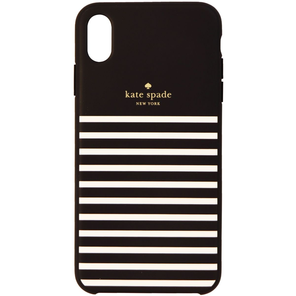 Kate Spade Soft Touch Case for Apple iPhone XS Max - Feeder Stripe Black/Cream