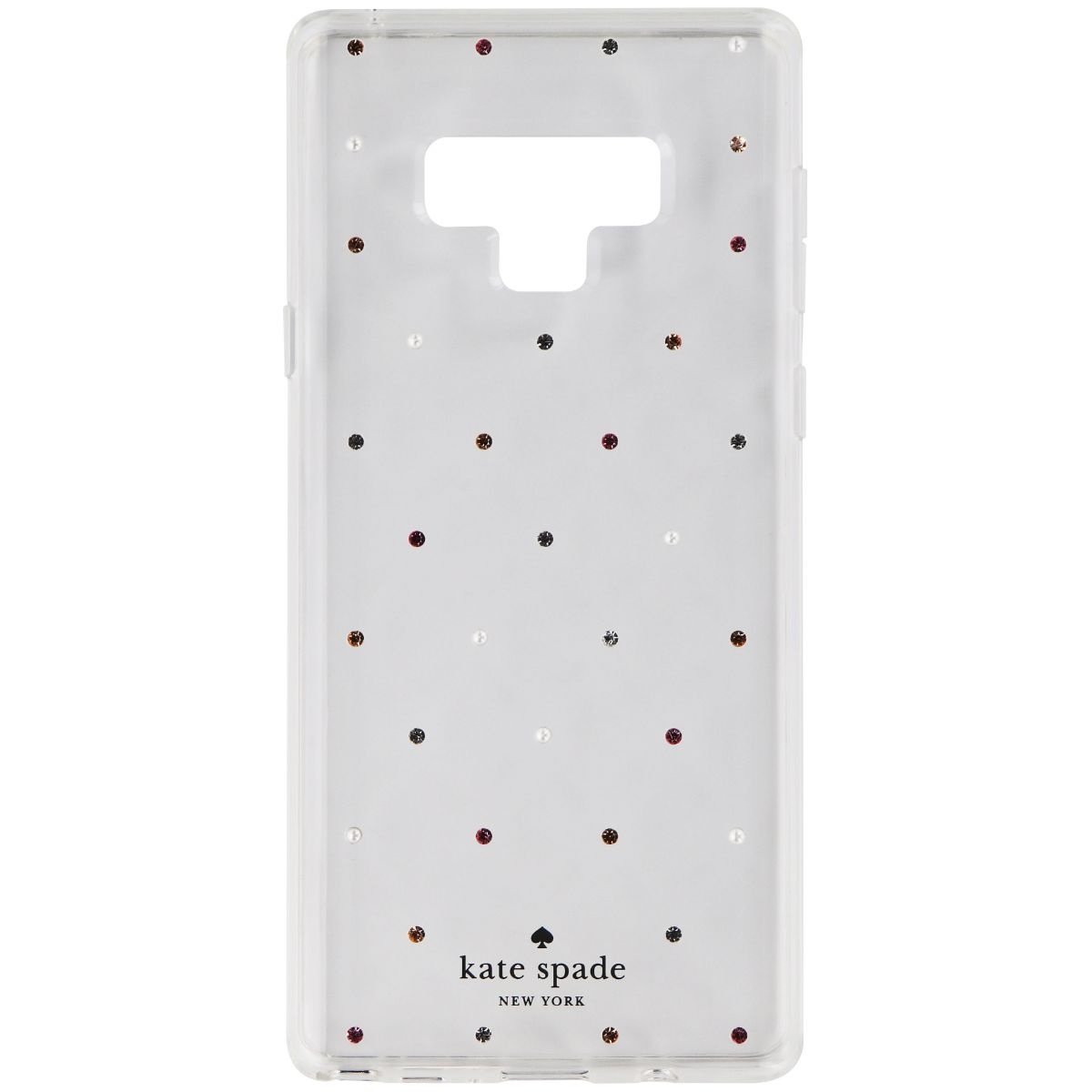 Kate Spade Hardshell Case for Samsung Galaxy Note 9 - Clear / Pin Dot Gems