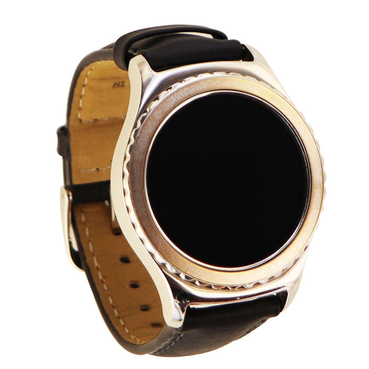 Samsung Gear S2 Classic Smartwatch R732 (40mm) Platinum Small Black Leather Band