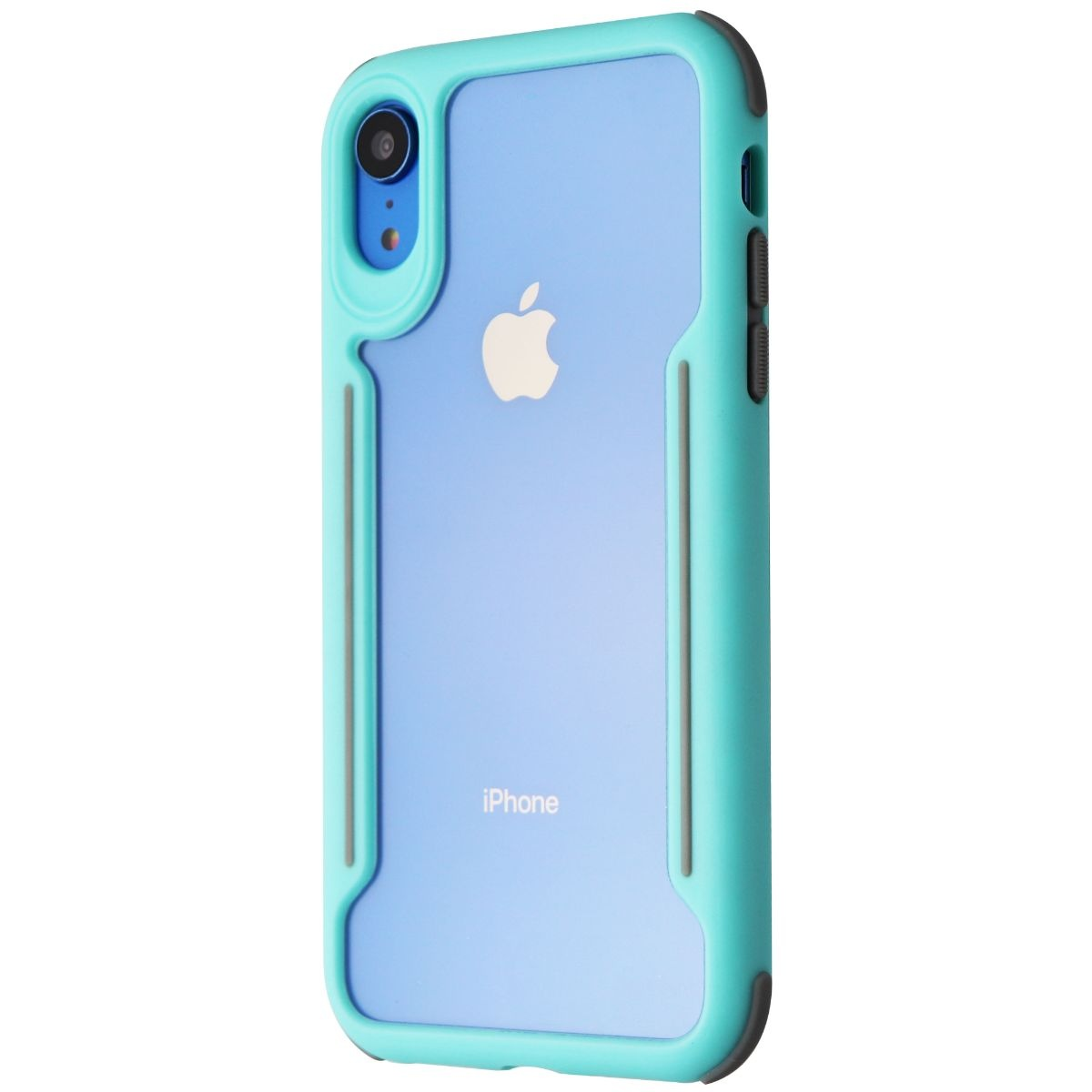 Verizon Slim Guard Series Case for Apple iPhone XR - Clear/Teal/Gray