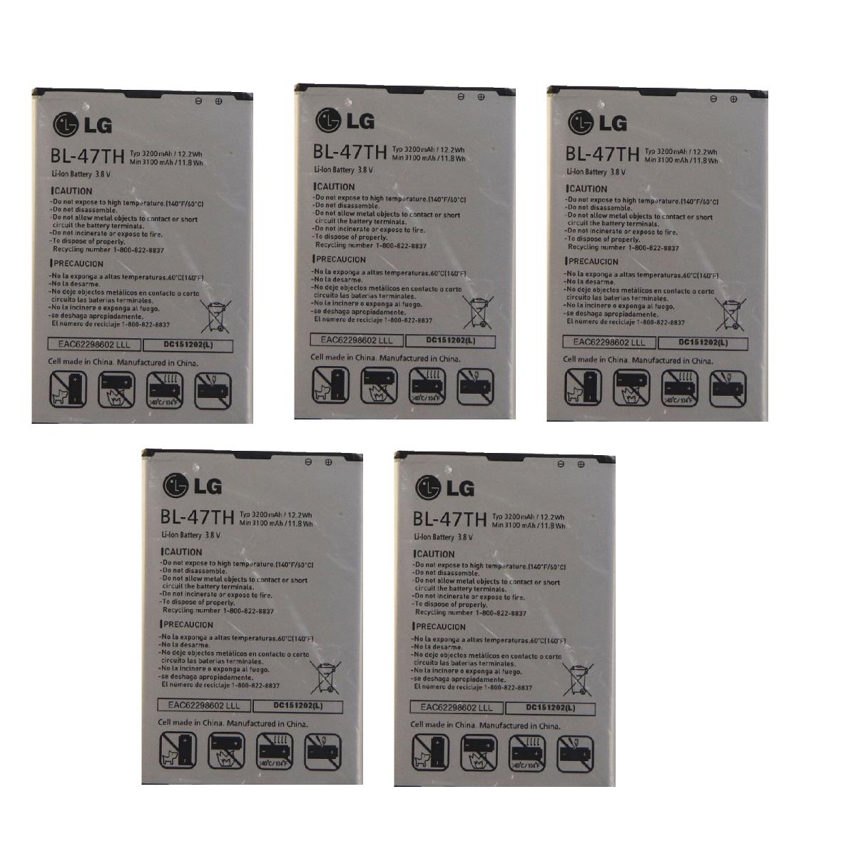 KIT 5x LG BL-47TH Li-ion Battery 3200mAh for Optimus G Pro