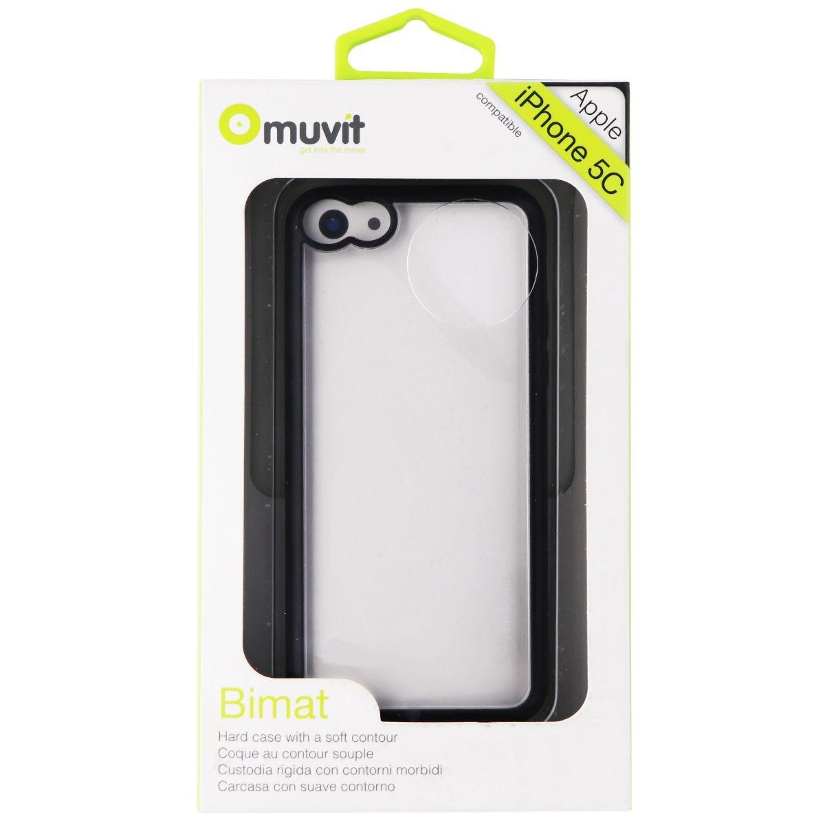Muvit Bimet Series Hybrid Case for Apple iPhone 5C - Clear/Black