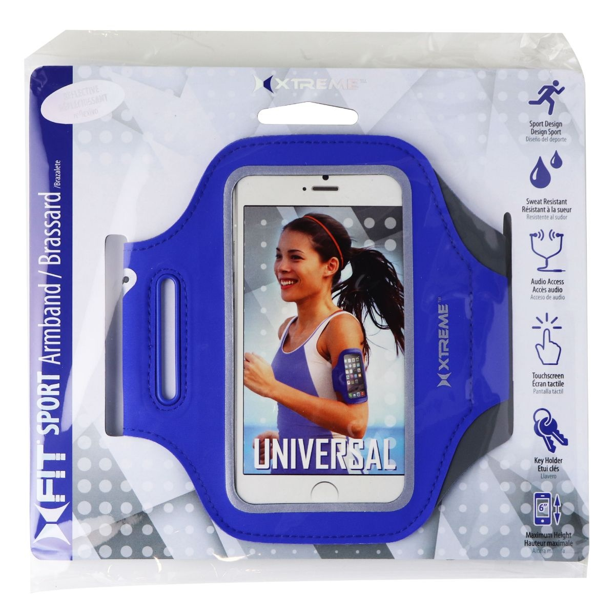 Xtreme XFit Sport Armband / Brassard for up to 6-inch Smartphones - Blue