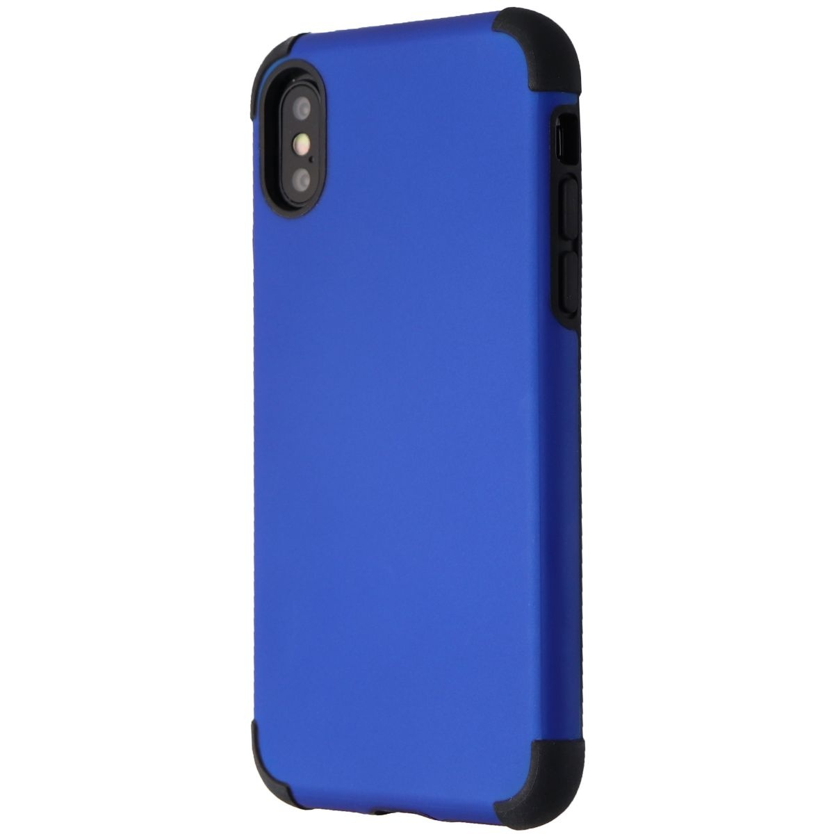 Verizon Rubberized Slim Case for Apple iPhone XS and iPhone X - Blue/Black