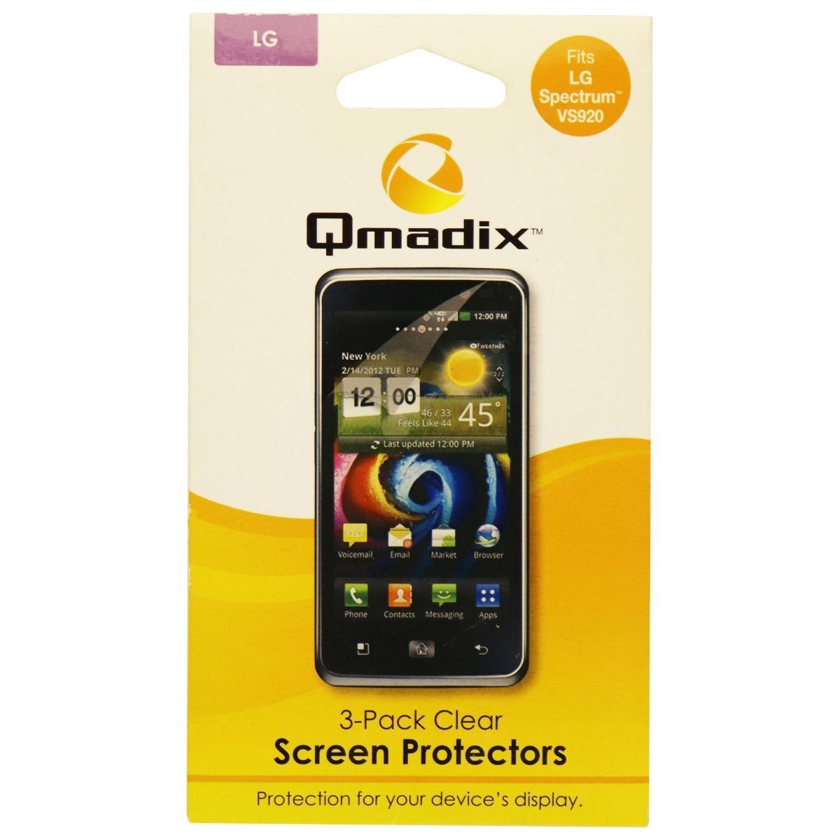 Qmadix Screen Protector 3-Pack for LG Spectrum VS920 - Clear