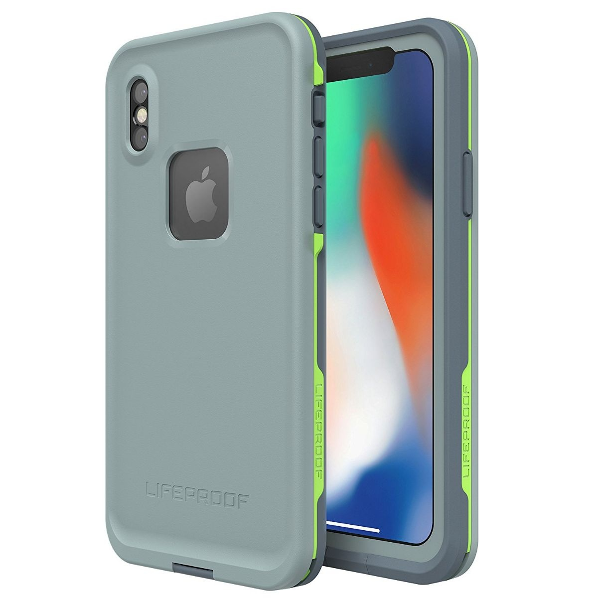 LifeProof FRE Series Waterproof Case Apple iPhone X - Blue Gray / Gray / Lime