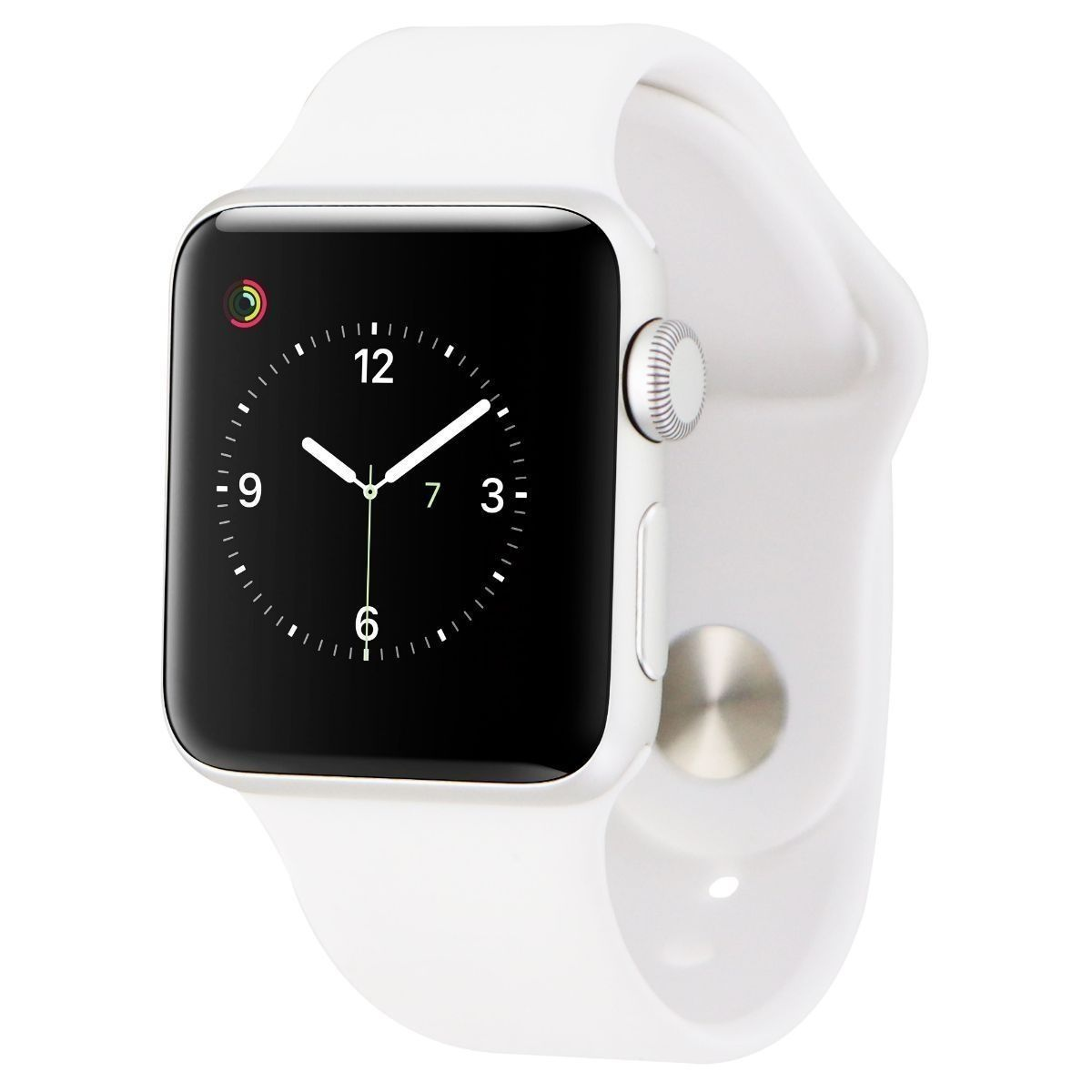Apple Watch Sport Smartwatch (38mm) A1553 Silver Aluminum/White Sport Band