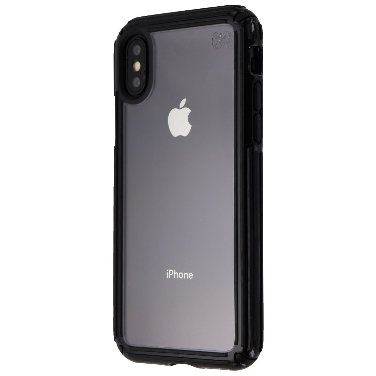 Speck Presidio V-GRIP Series Case for Apple iPhone XS and X - Clear/Black