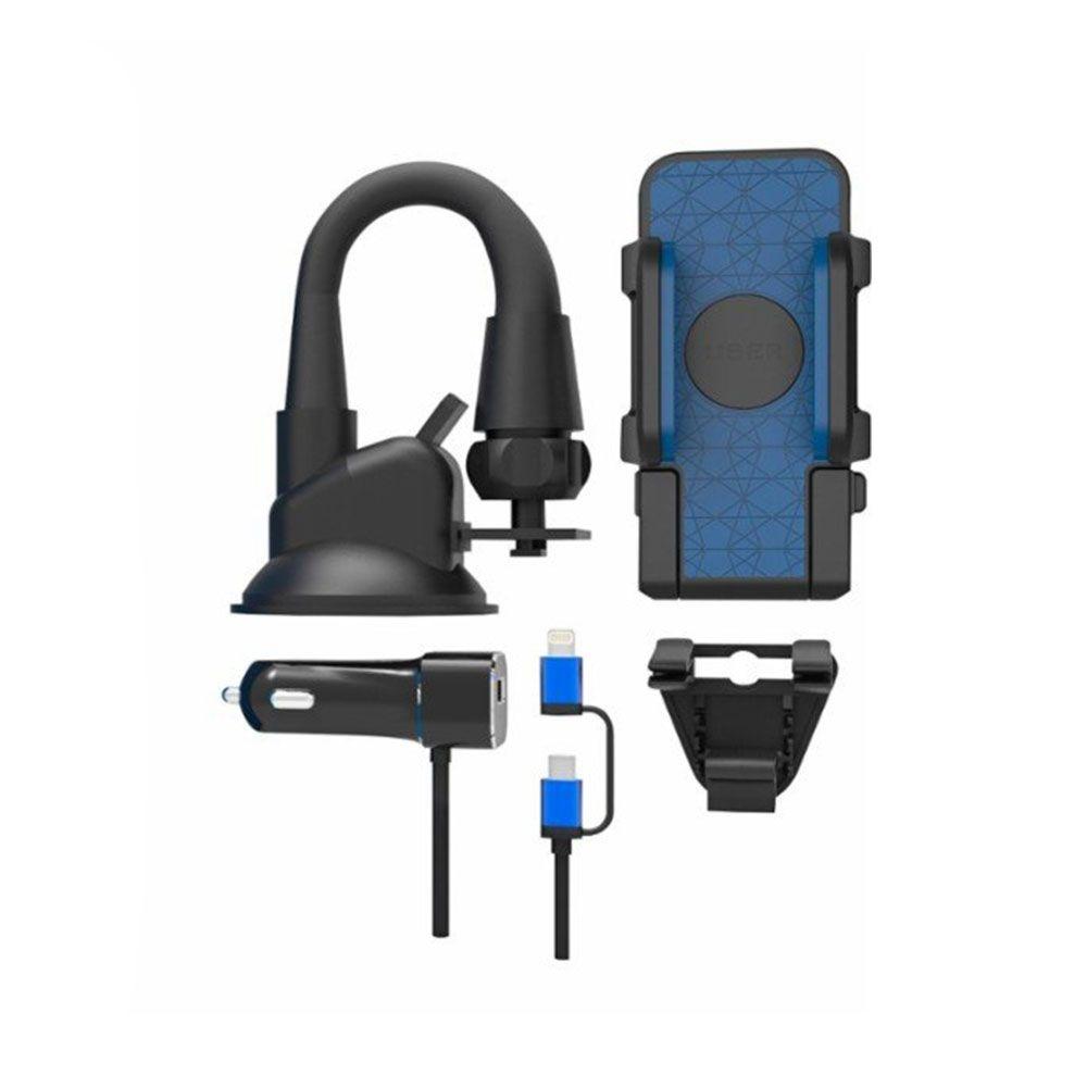 Bracketron UBER Windshield / Vent Mount Kit for Smartphones - Black - UB1-936-2