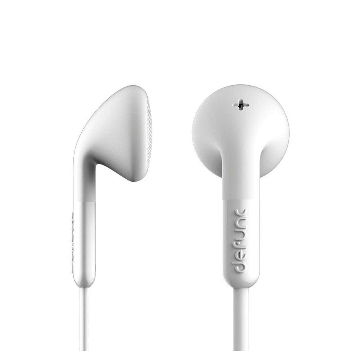 Defunc Plus TALK D0012 In-Ear Wired Earbud Headphones - White