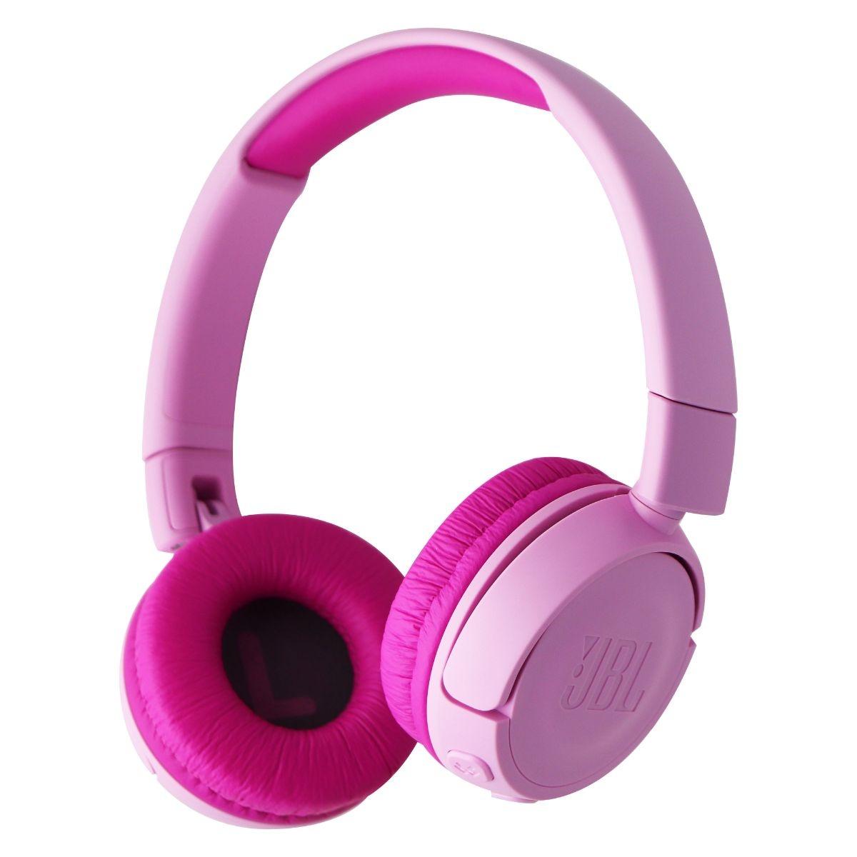 JBL Kids On-Ear Wireless Headphones with Safe Sound Technology - Pink JR300BT