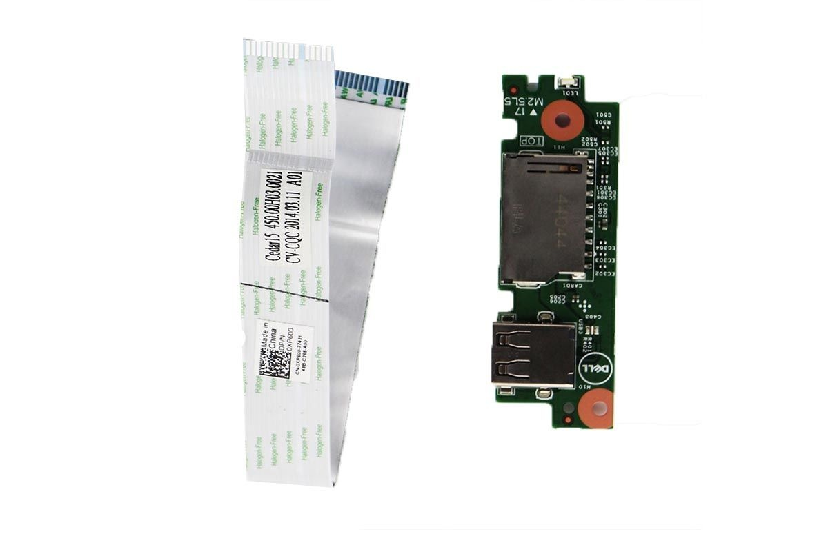 USB Card Reader Board w/ Cable for Dell Inspiron 15-3542 Laptop