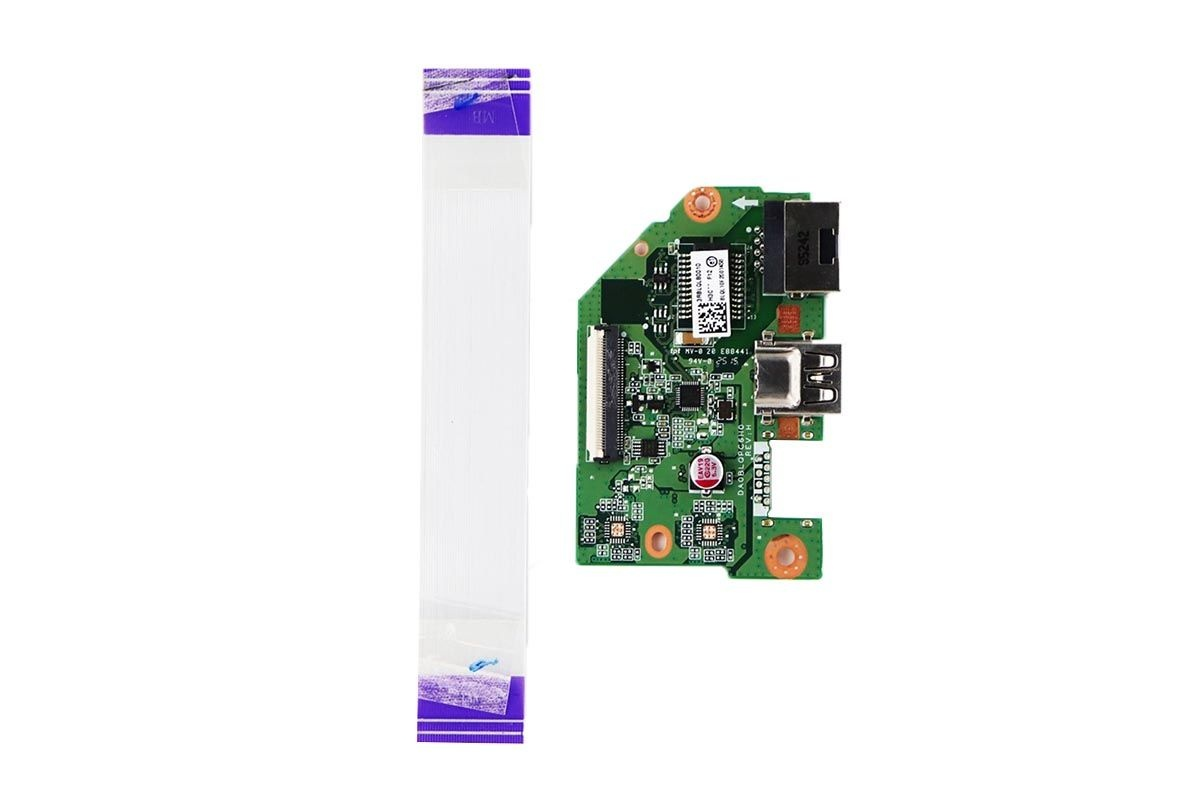USB/Ethernet Board w/ Cable for Toshiba Satellite C55-C5268D Laptop
